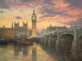 Puzzle Schmidt - 1000 de piese - Thomas Kinkade : Evening mood in London
