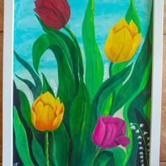 """Tablou pictura acrilica """"Sweet Tulips"""""""