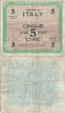 1943, 5 lire (P-M18b) - Italia!