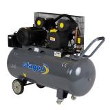 Compresor aer Stager, 4100 W, 8 bar, 200 l, 600 l/min, 950 rpm, trifazat, angrenare curea