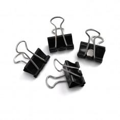 Magneti Architect model clema, putere clasa 3, set 4 bucati, ABS negru