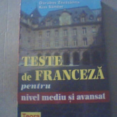 Darabos Zsuzsanna, Kiss Sandor - TESTE DE FRANCEZA PENTRU NIVEL MEDIU SI AVANSAT