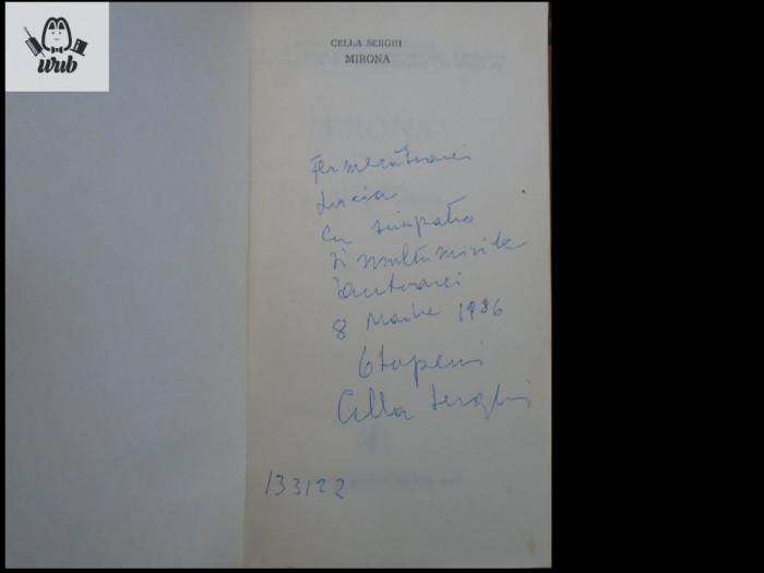 Cella Serghi Mirona dedicatie/ autograf!
