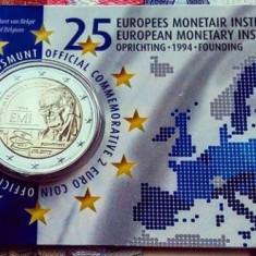 Moneda BELGIA 2 euro comemorativa 2019_INSTITUȚIA MONETARA a EUROPEI coin card, Europa, Cupru-Nichel