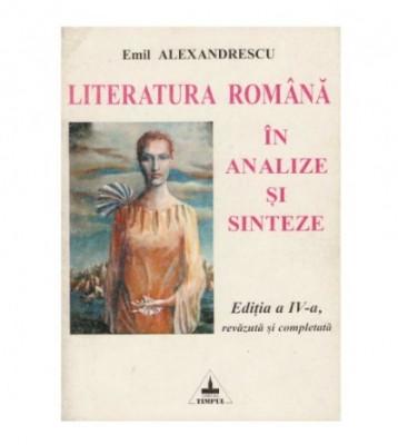 Literatura romana in analize si sinteze foto