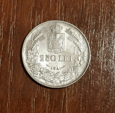 250 lei 1941, România, NSD, argint foto