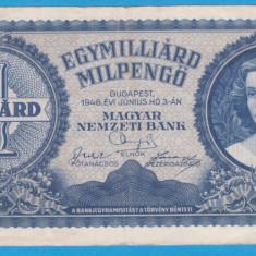 (4) BANCNOTA UNGARIA - 1 MILIARD PENGO 1946 (3 IUNIE 1946)