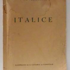 ITALICE de I. GR. PERIETEANU , ILUSTRATII de G. CATARGI SI COSTION