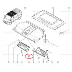 Obturator plafon OE Renault Mascott-Master, Dop original 7703074573 Kft Auto