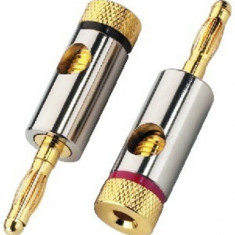 Pair of banana plugs for speakers Monacor BP-150