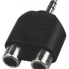 Adaptor Jack 3.5 tata - 2 x RCA mama Monacor NTA-105