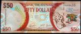 Bancnota COMEMORATIVA 50 DOLARI - GUYANA, anul 2016 * Cod 601 --- NECIRCULATA!