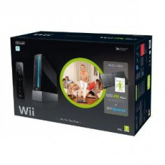 Consola Nintendo Wii (Black) cu Wii Fit Plus si Balance Board + Motion Plus Controller SH