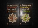 A. E. BACONSKY - REMEMBER. FALS JURNAL DE CALATORIE 2 volume