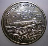 1.905 MEDALIE GERMANIA AVIATIE DER TRAUM VOM FLIEGEN JUNKERS JU 52 30mm
