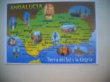 HOPCT 75513 HARTA TURISTICA ANDALUCIA SPANIA --NECIRCULATA