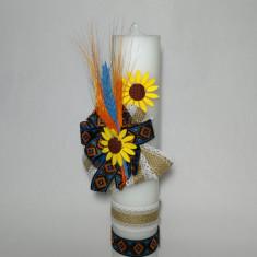 Lumanare pentru botez, 40X7 cm - Model Traditional
