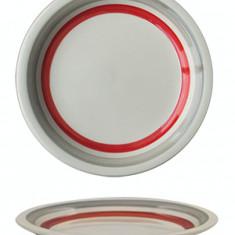 Farfurie ceramica, 19cm, cu dunga rosie, Keramik, 0121127,