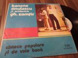 DISC VINIL LP BENONE SINULESCU SI ORCHESTRA GH.ZAMFIR