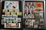 Clasor 291 timbre straine nestampilate + 19 colite, serii rare, nedantelate, MNH
