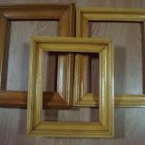 3 rame din lemn(cu geam) pentru tablouri(utilizate)-30lei, Dreptunghiular