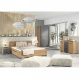 Set dormitor UTAH, stejar grandson auriu/uni gri
