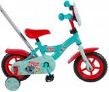 Bicicleta pentru baieti Woezel Pip, 10 inch, culoare albastru/rosu, fara franePB Cod:81067