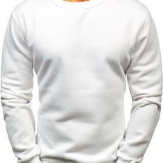 Bluză fără glugă pentru bărbat albă Bolf BO-01