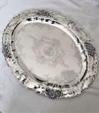 Tava din argint masiv 800 stilul rococo din anii 1880 Viena