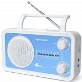 Radio portabil Muse M-05 BL, 4-Band Analog, AUX-in (Alb/Albastru)