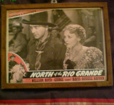 Afis vechi ,original ,film  american ,,La nord de Rio Grande ,,