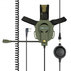 Resigilat : Casca cu microfon Midland BOW-M EVO-K cu mufa tip Kenwood Cod C1046.03