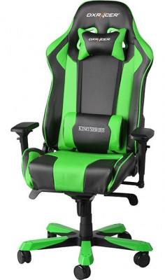 Scaun gaming DXRacer King negru/verde foto