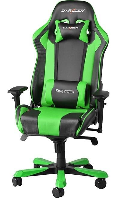 Scaun gaming DXRacer King negru/verde