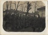 Fotografie soldati romani cu pusti 1930 poza veche