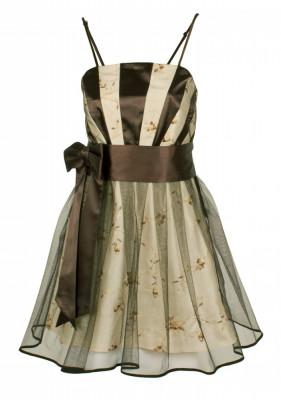 Rochie de seara, scurta, cu broderie florala tesuta manual foto