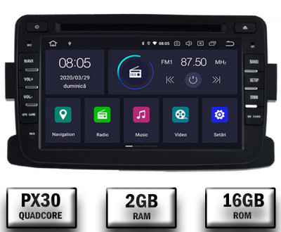 NAVIGATIE Dacia Renault, ANDROID 9, Quadcore PX30 2GB RAM + 16GB ROM cu DVD, 7 Inch - AD-BGWDACIA7P3 foto