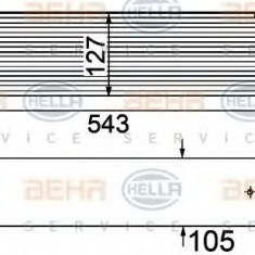 Radiator intercooler BMW Seria 5 Touring (E61) (2004 - 2010) HELLA 8ML 376 746-501