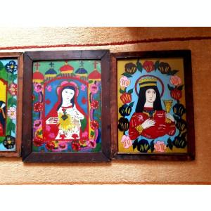 Tablou - icoanane pictura pe sticla - icoana veche