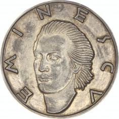 Medalie argint unifata Mihai Eminescu 1940 Ioana Bassarab - extrem de rara