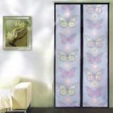 Cumpara ieftin Perdea tip plasa anti-insecte, colorata, cu model si cu magneti, Grunberg 210x100