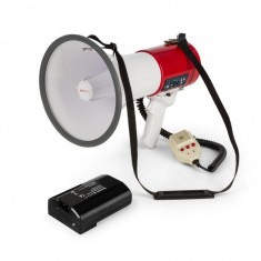 Auna MEGA080USB, megafon + baterie, set, 80 w, roșu