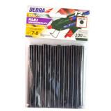 Baton silicon pentru pistol lipit, negru, 12 buc, 8x100 mm GartenVIP DiyLine, Dedra