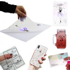 Folie adeziva transparenta printabila inkjet, A4, 20 coli, Procart foto