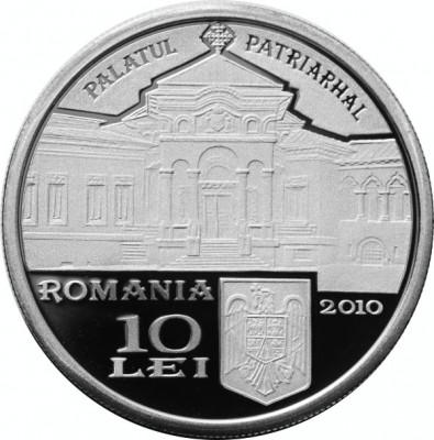 Moneda Argint 10 Lei Patriarhul Miron Cristea foto
