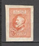 Romania.1926 Regele Ferdinabd I nedantelate cu filigran-ESEU  CR.1