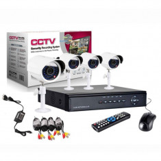 Sistem supraveghere kit video cctv dvr 4 camere exterior 3g, internet