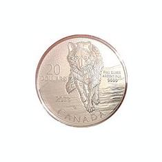 Canada 20 Dollars 2013 - Wolf, Argint 7.96g-999, Sbs1 , KM-1511 UNC !!!