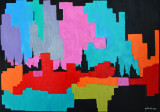 Pictură în ulei pe pânză, cuțit de paletă, Abstract