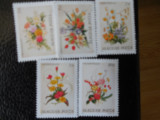 Serie timbre flora flori plante Ungaria nestampilate timbre filatelice postale
